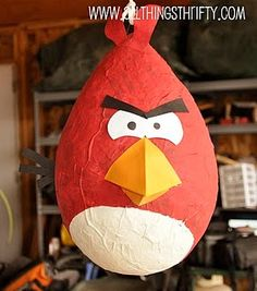 Angry birds pinata - I am going to try and make this for a party next month.  Hopefully it turns out.