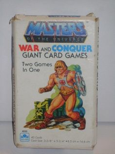 Masters of the Universe War and Conquer Giant Card Game 1983 NOS #Mattel