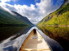View from a canoe…