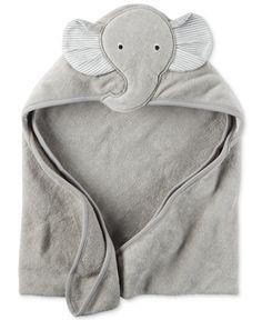 Carter's Baby Boys' Hooded Elephant Towel - Carter's Little Baby Basics - Kids…