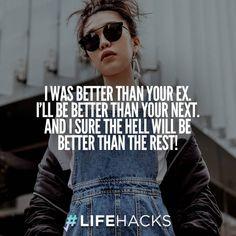 30 Funny & Insulting Ex Boyfriend Quotes (via LifeHacks) 30 Funny & Insulting Ex Boyfriend Quotes (via LifeHacks) Ex Quotes Funny, My Ex Quotes, Insulting Quotes, Diva Quotes, Bitch Quotes, Sassy Quotes, Qoutes, Fake Quotes, Couple Quotes