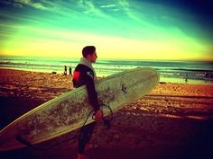 Early morning surf in Santa Monica