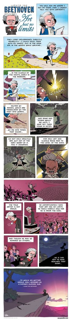 ZEN PENCILS » 201. LUDWIG VAN BEETHOVEN: Art has no limits