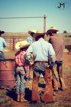 Texas Cowboys - Daughters - Branding - Ranch Life - Tongue River Ranch