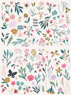 Flower Doodles, Reference Images, Summer Garden, Floral Prints, Clip Art, Quilts, Blanket, Flowers, Pattern