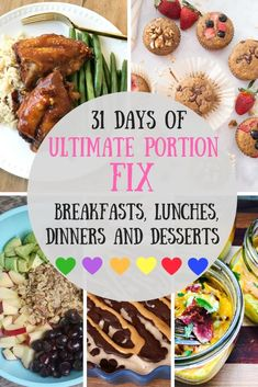 Looking for an Ultimate Portion Fix Recipe for your meal plan? How about a month's worth? I have 31 tried and true Ultimate Portion Fix dinners, breakfasts, lunches, desserts and even a whole Ultimate Portion Fix Instant Pot section! 21 Day Fix Recipes 21 Day Meal Plan, 21 Day Fix Diet, 21 Day Fix Meal Plan, 21 Day Fix Challenge, Instant Pot, Beachbody 21 Day Fix, Beachbody Meal Plan, 21 Day Fix Breakfast, Breakfast Recipes