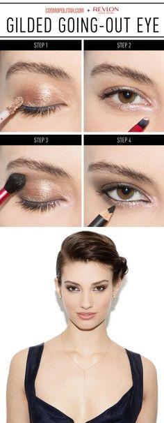Gilded eye makeup tutorial
