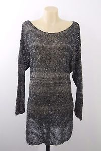 Size L 14 RICH Brand Ladies Loose Knit Top Jumper Boho Chic Layer Casual Design  | eBay