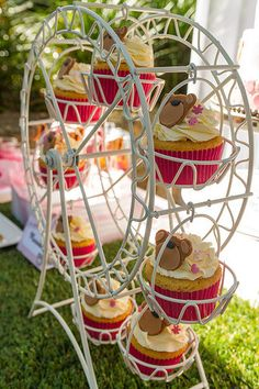 On Sale Cupcake Stand ferris wheel ( holds 8) cupcakes!  @Maureen Fernandez