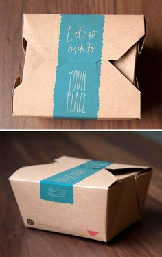 """Let's go back to your place."" love this chinese carton packaging"
