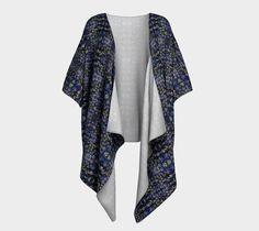 "Draped Kimono ""Equilibrium"" by Gaya #draped #kimono #signature #unique #art #designs #exclusive #original #artistic #creation #fashion #designer #clothing #collection #blue"
