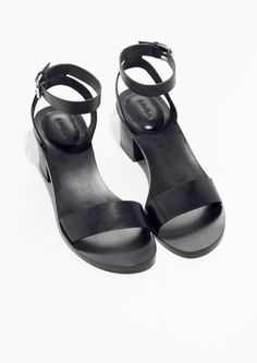 & Other Stories image 2 of Ankle-Strap Heeled Sandal in Black