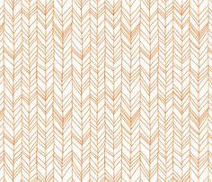 Crib sheet in Orange Herringbone by bbylab on Etsy