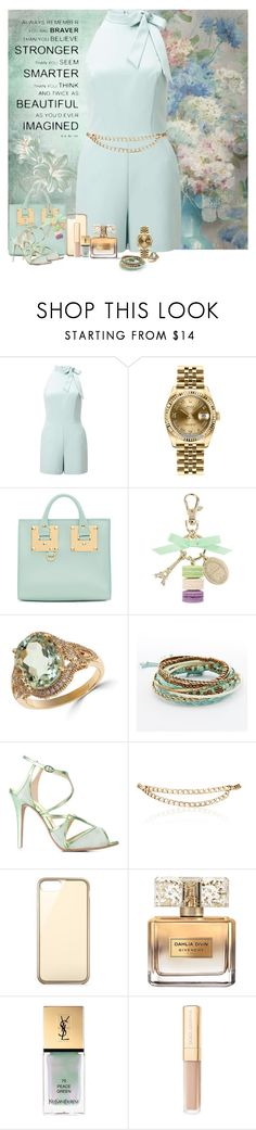 """""""Formal Mint"""" by denisewood ❤ liked on Polyvore featuring Miss Selfridge, Rolex, Sophie Hulme, Ladurée, Effy Jewelry, Mudd, Francesca Mambrini, Maison Mayle, Belkin and Givenchy"""