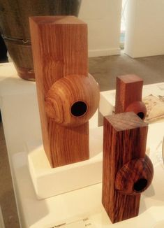 Enjoyed @devonguild exhibition 'Celebrate' today - loved Dave Registers engenous & well executed forms #Woodturning