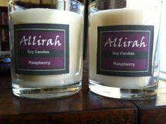 Allirah Soy Candles - Raspberry - delicious!