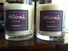 Allirah Soy Candles - Raspberry - delicious!