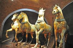 Horses of St Mark's Venice- They are works of art of such mingled grace and compassion, such magic in fact, that down the centuries millions of people have taken them to their hearts.  It is not just that they are beautiful.  They really do seem transcendental.