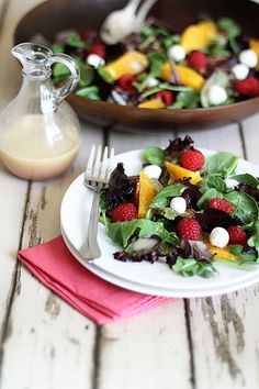 Baby Kale and Blackberry Salad. Baby Kale and Blackberry Salad with Ricotta Salata Avocado and Rosemary Honeyed Almonds Blackberry Salad, Raspberry Salad, Raspberry Recipes, Raspberry Ideas, Daisy Sour Cream, Spring Mix Salad, Avocado, Comfort Food, Healthy Salad Recipes