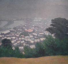 Félix Vallotton (Suisse, 1865-1925), Honfleur dans la brume,1911, huile sur toile, 82 cm x 88 cm, Nancy, Musée Des Beaux-Arts