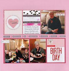 Sweet Birthday...3 photo layout