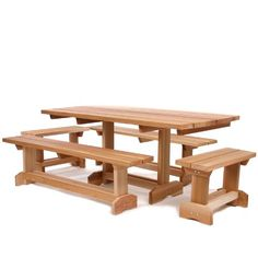"Cedar Picnic Table Outdoor Patio Set (10 person). KIT INCLUDES : (2-BENCHES: MB70U 69 x 12 x 18). (2- BENCHES: MB30U 34 x 12 x 18). (1-TABLE: 33 x 70 x 30 - Optional 1- 1/2"" Umbrella Hole). 69 x 33 x 30."