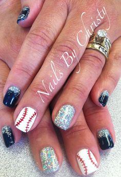 Sparkle Baseball Shellac Nails #22 Christy @ Mane Tamers Mishawaka