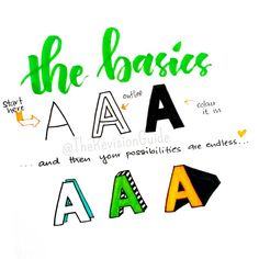 """""""#TheRevisionGuide_Lettering The thing about lettering is... that it's easy, once you know how it's done.. and then, your options are just endless  here's…"""""""