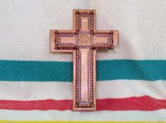 Brother Ustat carved Cross - via Diggit Victoria Pacific Northwest, Hand Carved, Brother, Carving, Victoria, Symbols, Blanket, Art, Blankets