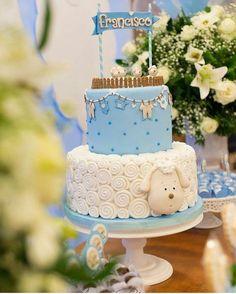 Lamb Baby Shower Cake…