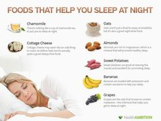 Foods that help you sleep at night. I love that grapes are in there. My dad will be pleasantly surprised!