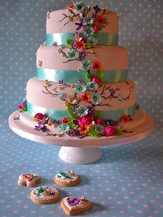 Summer daze wedding cake & cookies