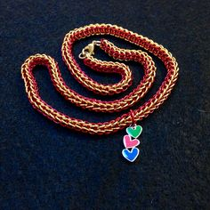 Red and gold Chainmail on AllenCreations website.