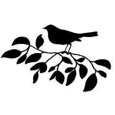 veloursmotief vogel op tak zwart   dieren/ insecten   full color strijkapplicaties en zo