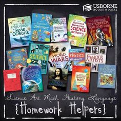 Usborne Books & More has several educational books that encourage kids to learn and read with interesting information and beautiful graphics and illustrations. Many of our books are even used along with different home school curricula. These exciting books, and many more are a great way to supplement your child's learning and help them go deeper into the subjects that interest them.