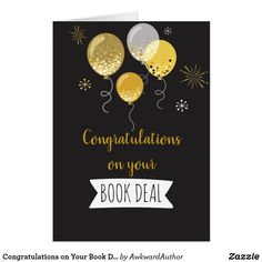 Congratulations on Your Book Deal Card