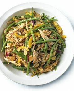Low FODMAP Recipe and Gluten Free Recipe - Shredded chicken, green bean salad with paprika & lemon