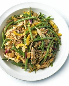 Low FODMAP Recipe and Gluten Free Recipe - Shredded chicken, green bean salad with paprika & lemon