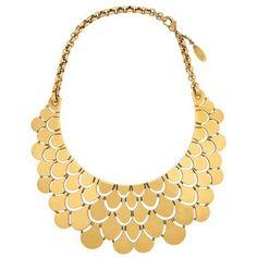 Roberto Cavalli Gold-plated bib necklace