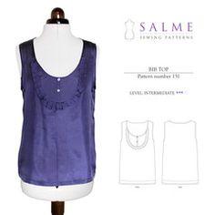 Digital Sewing Pattern - Bib Top Salme