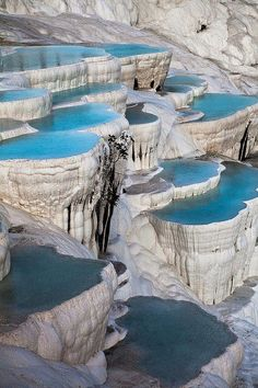 Hot springs in Pamukkale, Turkey!