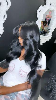 Baddie Hairstyles, Black Girls Hairstyles, Weave Hairstyles, Cute Hairstyles, Cute Black Couples, Wig Styles, Hair Pictures, About Hair, Hair Looks