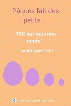 10% de #réduction sur tous les cours de #SPOC en Stock avec le code Easter2016 http://www.spocenstock.com/