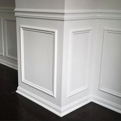 Portland Carpentry & Woodwork – Custom Built-Ins, Mantels, Wainscoting, & Crown - All About Decoration Wainscoting Styles, Wainscoting Panels, Painted Wainscoting, Picture Frame Wainscoting, Home Renovation, Home Remodeling, Paneling Makeover, Dining Room Wainscoting, Wainscoting Nursery