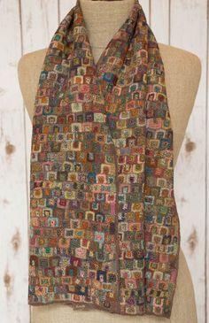 """Cartel"" KBO wool scarf - Sophie Digard crochet:"
