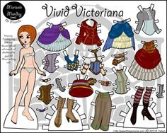 Melissa Smith of Miss Missy's Paper Dolls colored Vivid Victoriana.