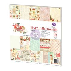 Sweet Peppermint COLLECTION KIT, Prima Scrapbook Kit, Prima Card Stock, Christmas Card Stock, Pastel Christmas Card Stock, Pastel Christmas by OneDayLongAgo on Etsy