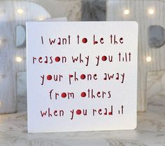 I want to be the reason why you tilt your phone away from others when you read it, sarcastic, sexy birthday, silly love , funny birthday Sarcastic Birthday, Funny Birthday Cards, Diy Birthday, Birthday Quotes, Birthday Humorous, Sister Birthday, Birthday Images, Birthday Greetings, Birthday Ideas