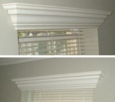 Hide * A * Blind Wood Crown Molding Valance. I like these.