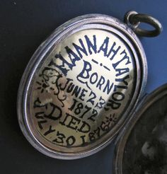 Blog post about a poignant locket from the MOLAM collection Sleep in Jesus: a dedication to a child, 1876